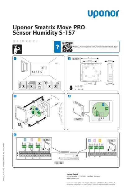 Uponor Smatrix Move PRO Humidity Sensor quick guide