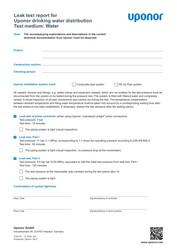 IR MLC leak test report TW water EN 1120119
