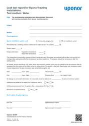 IR MLC leak test report HC water EN 1120121
