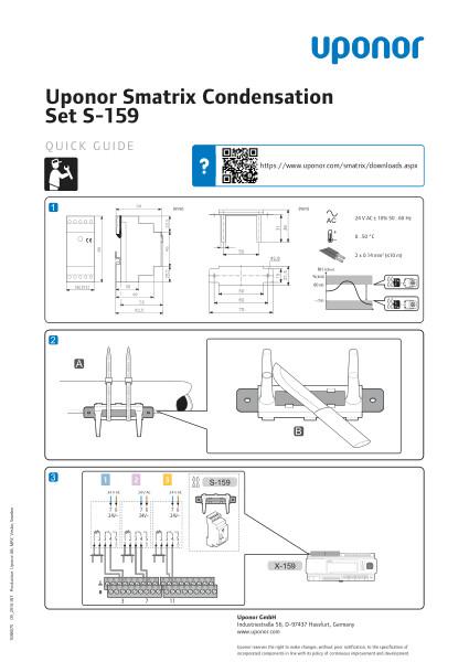 Uponor Smatrix Move PRO Condensation set quick guide