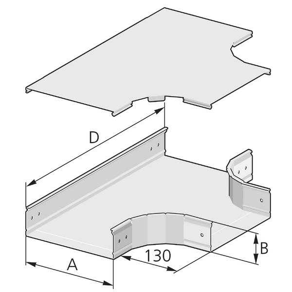 Pflitsch Mini-kanalen T-stuk
