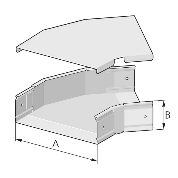 Pflitsch Mini-kanalen Hoekstuk 45 graden