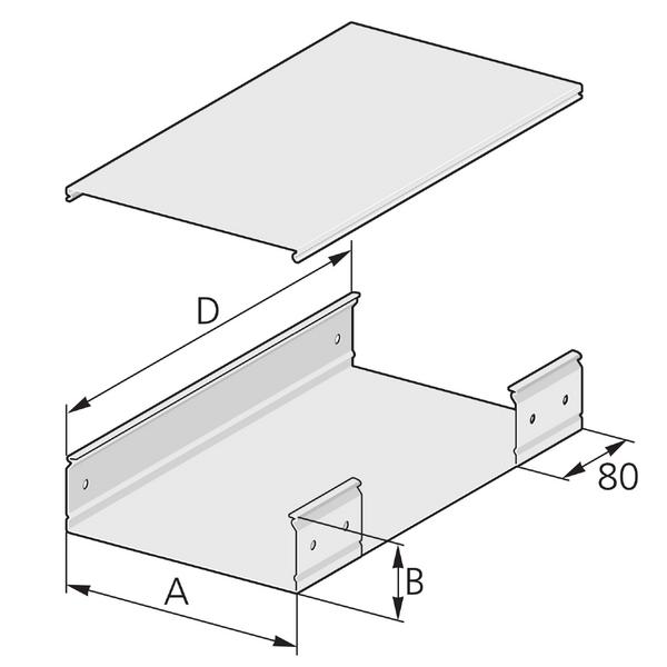 Pflitsch Mini-kanalen T-verbinding