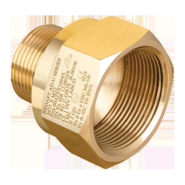 Redapt ATEX adapters Messing Metrisch - Metrisch