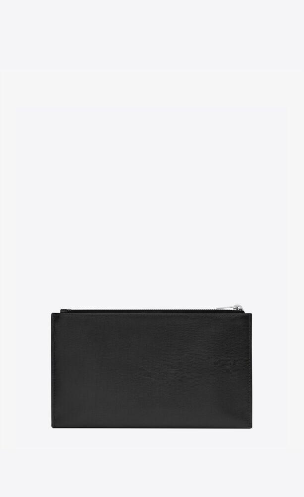 monogramme bill pouch en cuir lisse