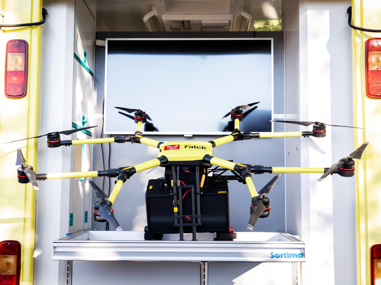 Health drones fly out of sight