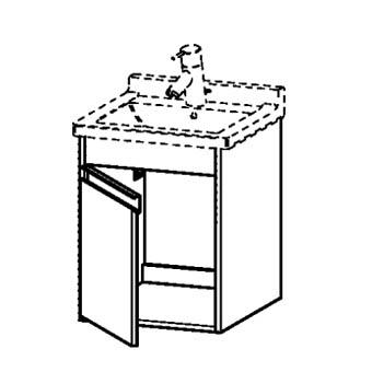 ONDERBOUW-L.44X55 1-DR.GRAPHIT