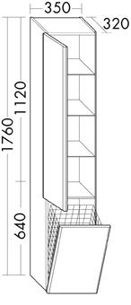 HOGE K.1DR-R/WASK 35X176X32 GW
