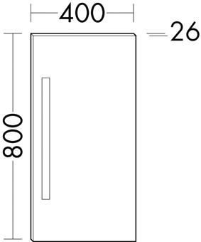 SPIEGEL M/LED-L.WAND 40X80 ALU