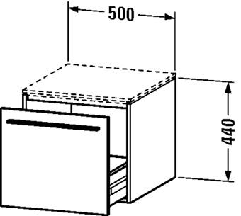 ONDERB.50X54,8X44 1L.CAPUCINO