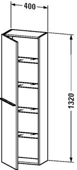HALFH.KAST-L.132X40X23,8 GLWIT