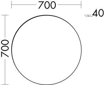 SPIEGEL LED 70X70CM