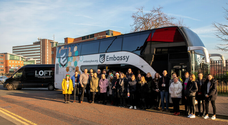 Embassy Bus Visit_Christmas Jumper Day 2018