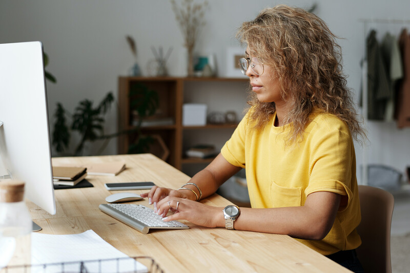 WFH Desk People Stock Images